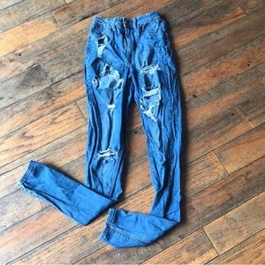 AP Blue by Aphrodite distressed jeans